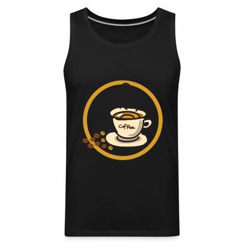 Kaffeeemblem - Männer Premium Tank Top