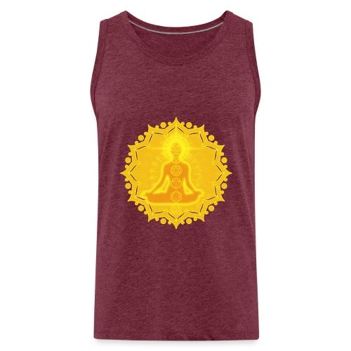 Yoga Lotus Meditation Chakren III - Männer Premium Tank Top