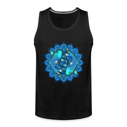 Asian Pond Carp - Koi Fish Mandala 1 - Männer Premium Tank Top