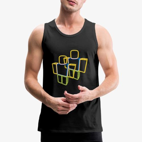 Sqaure Noob Person - Men's Premium Tank Top