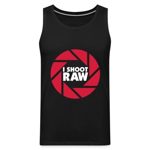I shoot RAW - weiß - Männer Premium Tank Top