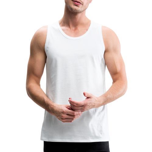 Light up the City - valkoinen printti - Miesten premium hihaton paita