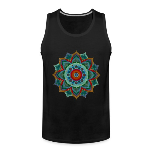 HANDPAN hang drum MANDALA blue red grey - Männer Premium Tank Top