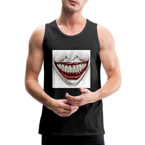 Smile Maske - Männer Premium Tank Top