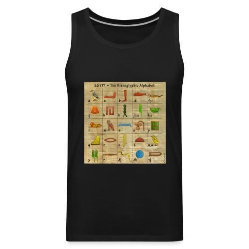 The Hieroglyphic Alphabet - Männer Premium Tank Top