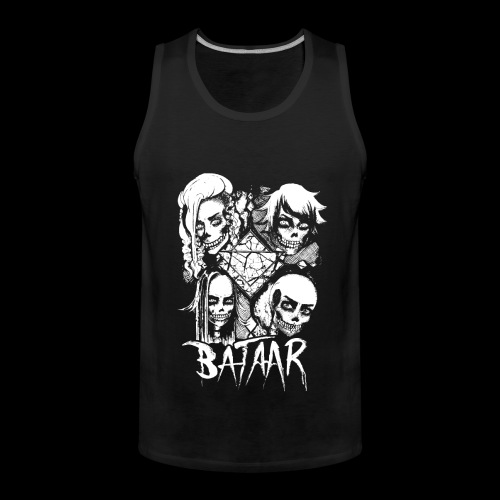 VICIOUS SKULLTULA - WHITE - Men's Premium Tank Top