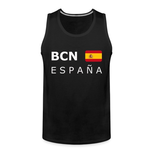 BCN ESPAÑA white-lettered 400 dpi - Men's Premium Tank Top