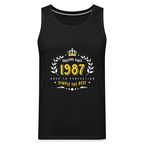 original since 1987 simply the best 30th birthday - Men's Premium Tank Top