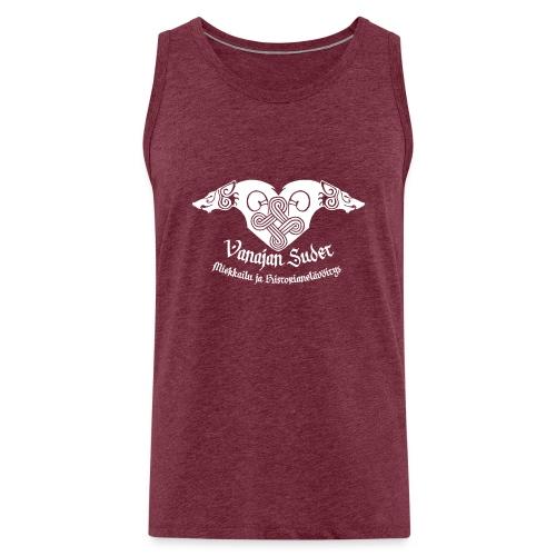 Vanajan Sudet Logo (valkoinen) - Miesten premium hihaton paita