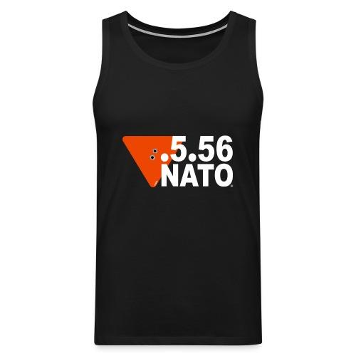 .5.56 NATO BLANC - Débardeur Premium Homme