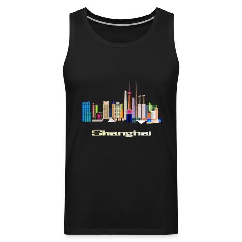 skyline Shanghai - Männer Premium Tank Top