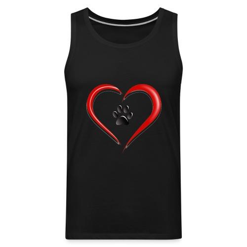Shirt Herz auf vier Beinen - Männer Premium Tank Top