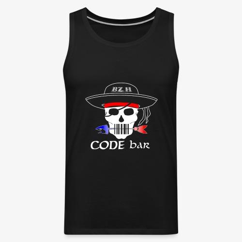 Code Bar white - Débardeur Premium Homme