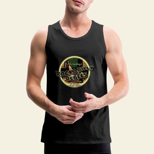 rockabilly rebels pinup - Herre Premium tanktop