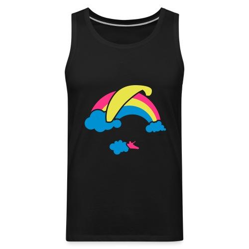 Rainbow & Clouds Paragliding - Men's Premium Tank Top
