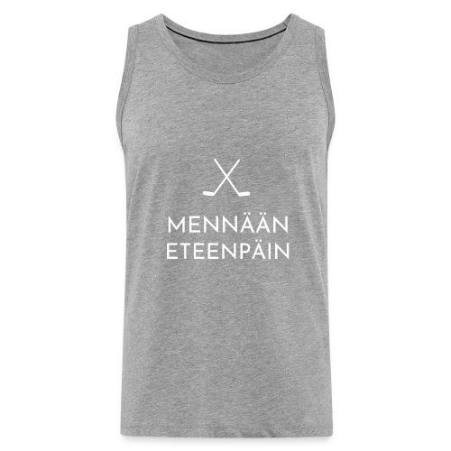 Mennaeaen eteenpaein valkoinen - Miesten premium hihaton paita