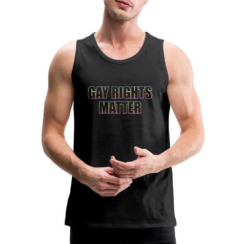 Gay Rights Matter - Miesten premium hihaton paita