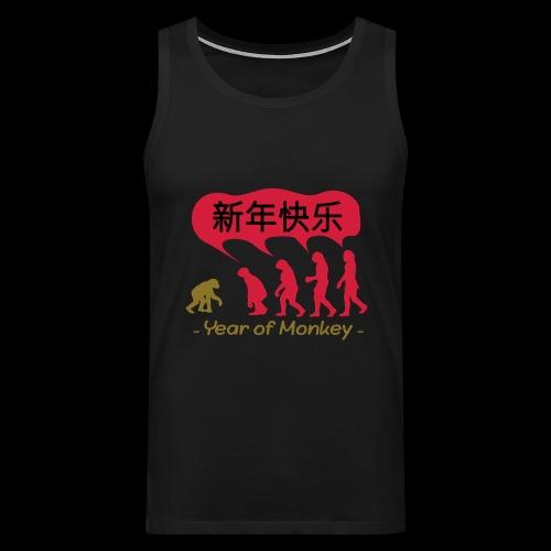 kung hei fat choi monkey - Men's Premium Tank Top
