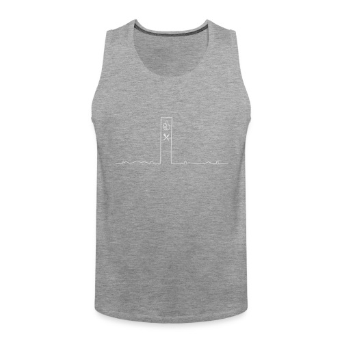 pikkuskyline_white - Miesten premium hihaton paita