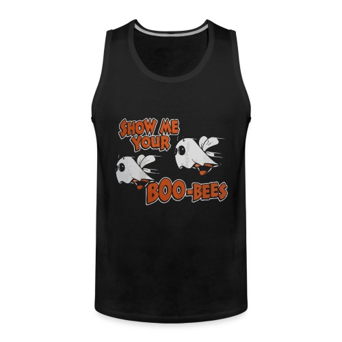 Show me your boo-bees funny halloween shirt - Men's Premium Tank Top