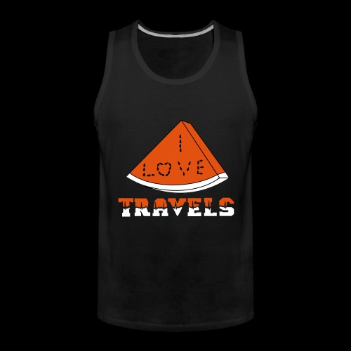 I LOVE TRAVELS FRUITS for life - Men's Premium Tank Top