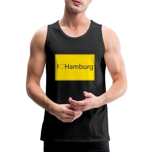 I love hamburg - Männer Premium Tank Top