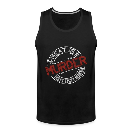 Meat is murder hell - Männer Premium Tank Top