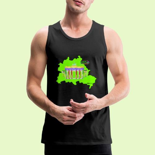 Berlin ist grün und bunt / BerlinLightShow - Männer Premium Tank Top