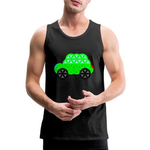 The Car Of Life - M01, Sacred Shapes, Green/R01. - Men's Premium Tank Top