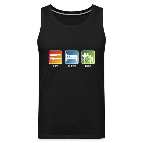 Eat, Sleep, Ride! - T-Shirt Schwarz - Männer Premium Tank Top