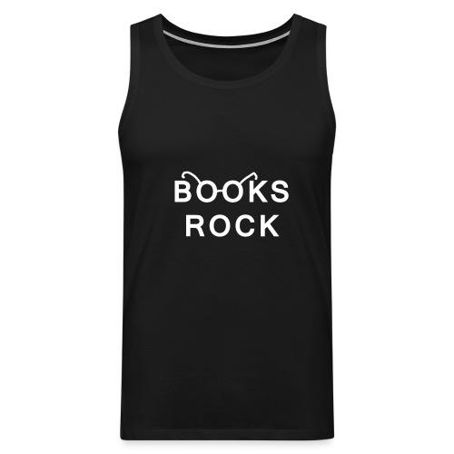 Books Rock White - Men's Premium Tank Top