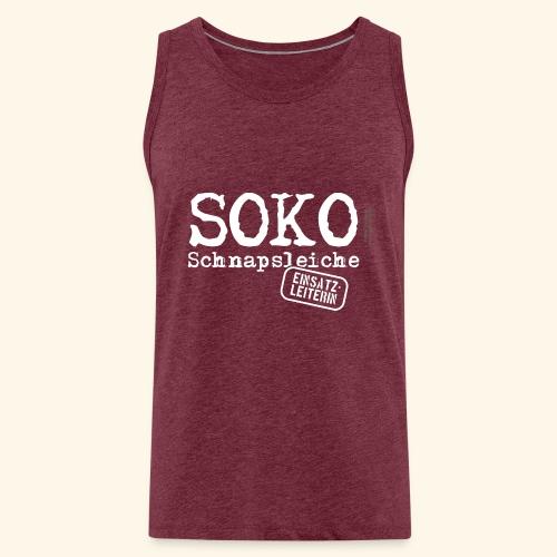 Sauf T Shirt SOKO Schnapsleiche - Männer Premium Tank Top