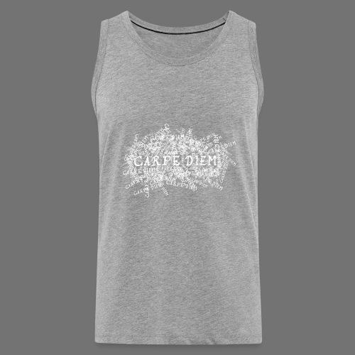 carpe diem (valkoinen) - Miesten premium hihaton paita