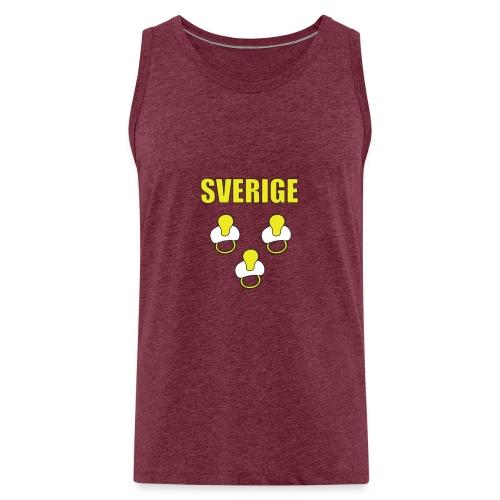 Sverige Tutti keltainen - Miesten premium hihaton paita