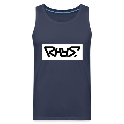 rhys basic logo black jpg - Men's Premium Tank Top