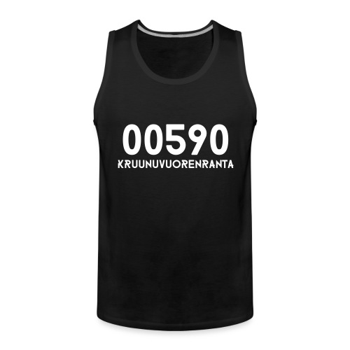 00590 KRUUNUVUORENRANTA - Miesten premium hihaton paita