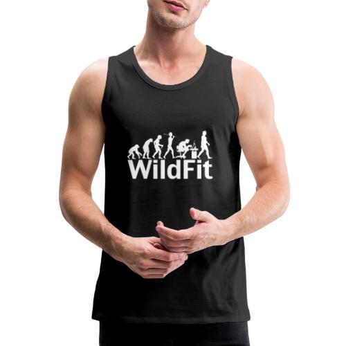 WildFit Logo Evolution Weiß - Männer Premium Tank Top