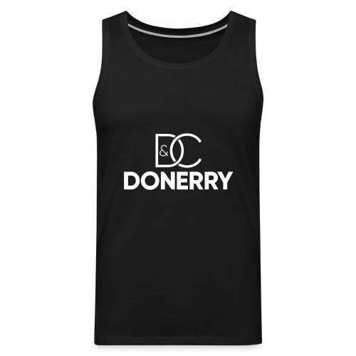 DONERRY New White Logo on Dark - Men's Premium Tank Top