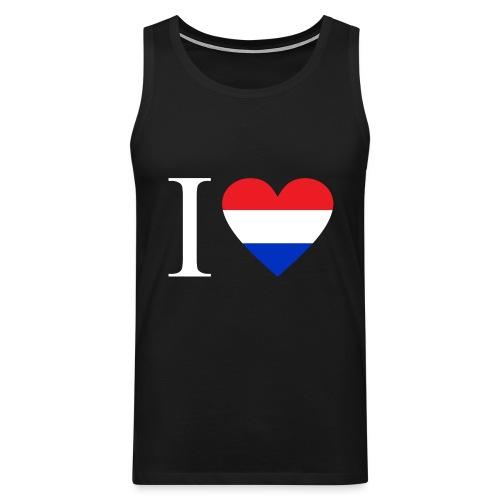 Ik hou van Nederland | Hart met rood wit blauw - Mannen Premium tank top