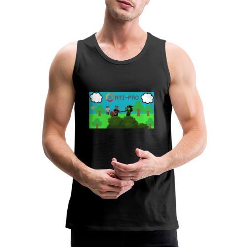 Maglietta Immagine Mario Anti-Pro - Canotta premium da uomo