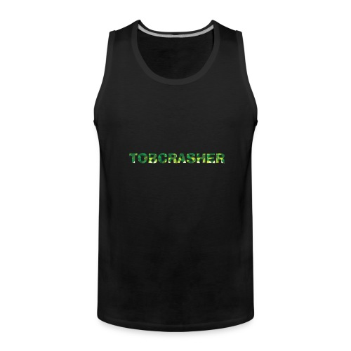 Tshirt Green triangles big - Männer Premium Tank Top