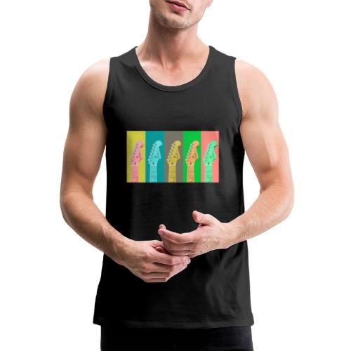 Colorful Guitar Gathering by #OneCreativeArts - Männer Premium Tank Top