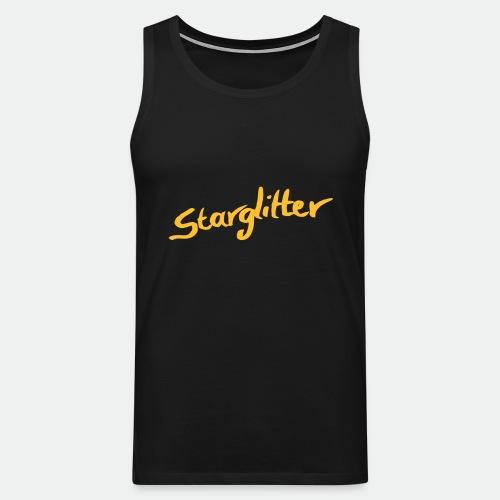 Starglitter - Lettering - Men's Premium Tank Top