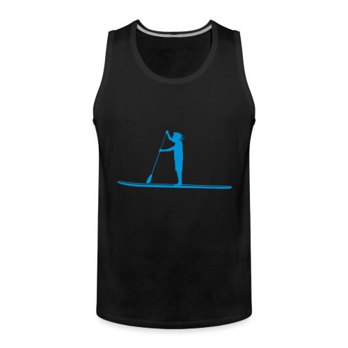 Stand-up Sihlouette - Männer Premium Tank Top