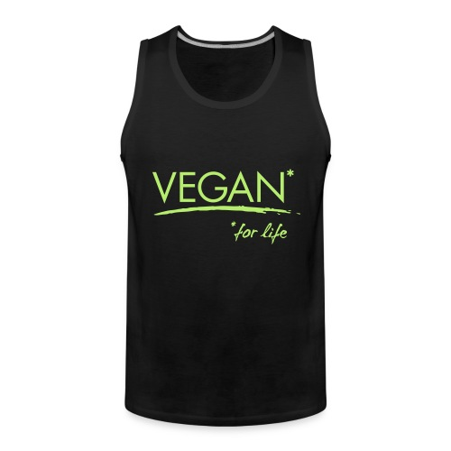 vegan for life 1c - Männer Premium Tank Top