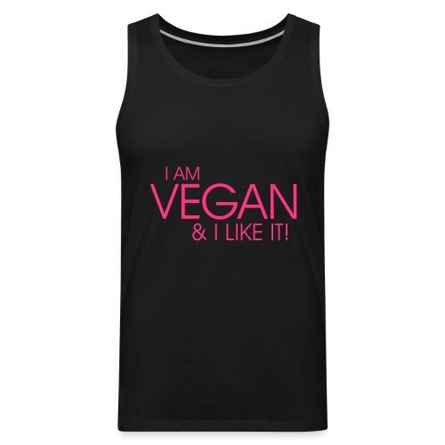 I am vegan and I like it - Männer Premium Tank Top