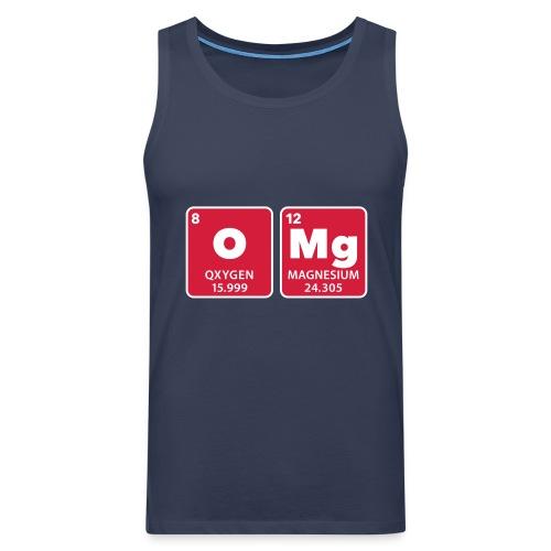 periodic table omg oxygen magnesium Oh mein Gott - Men's Premium Tank Top