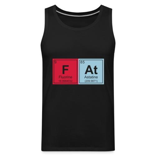 Geeky Fat Periodic Elements - Men's Premium Tank Top