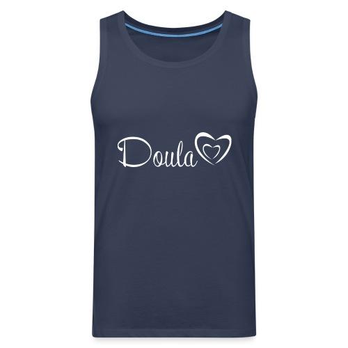 doula sydämet valkoinen - Miesten premium hihaton paita