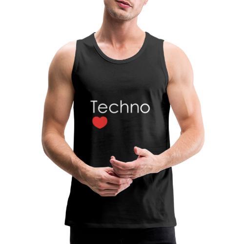 Techno Love Me - Tank top męski Premium